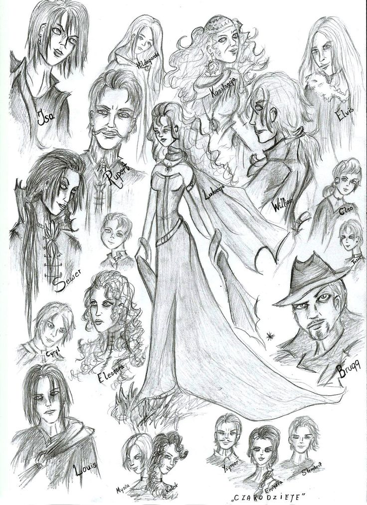 My characters by Iralukia on deviantART