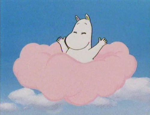Moomin opening credits #childrensillustration #moomin #pinkcloud