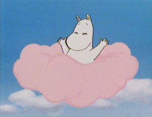 Moomin opening credits #childrensillustration #moomin #pinkcloud