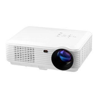 """""""Features & Benefits"""" Video Projector 2000 Lumen 1280x768 Multimedia LCD LED Slide Beamer Office Presentation Indoor Family Proyector Gift Movie night for PC Laptop Powerpoint White Color"""