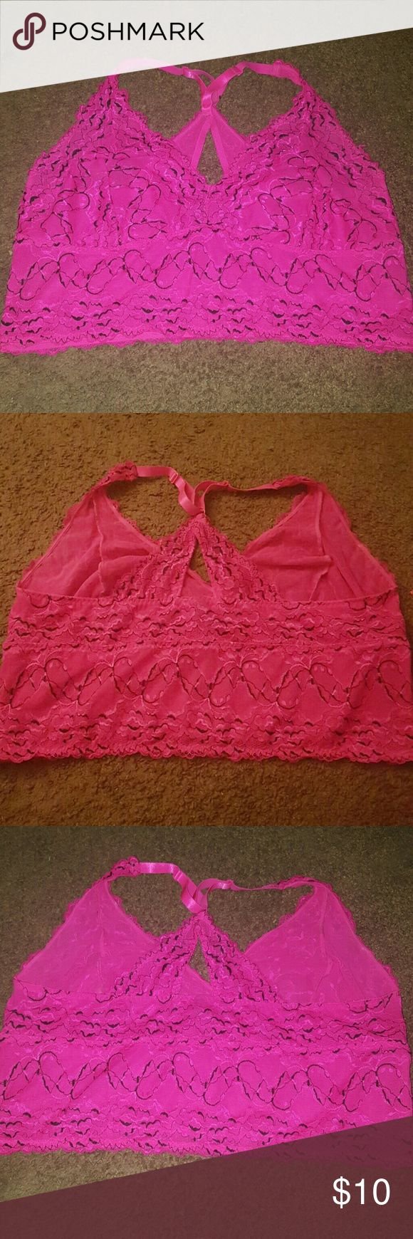torrid bralette size 4 hit pink bralette by torrid in great condition no rips stains or smells torrid  Intimates & Sleepwear Bras