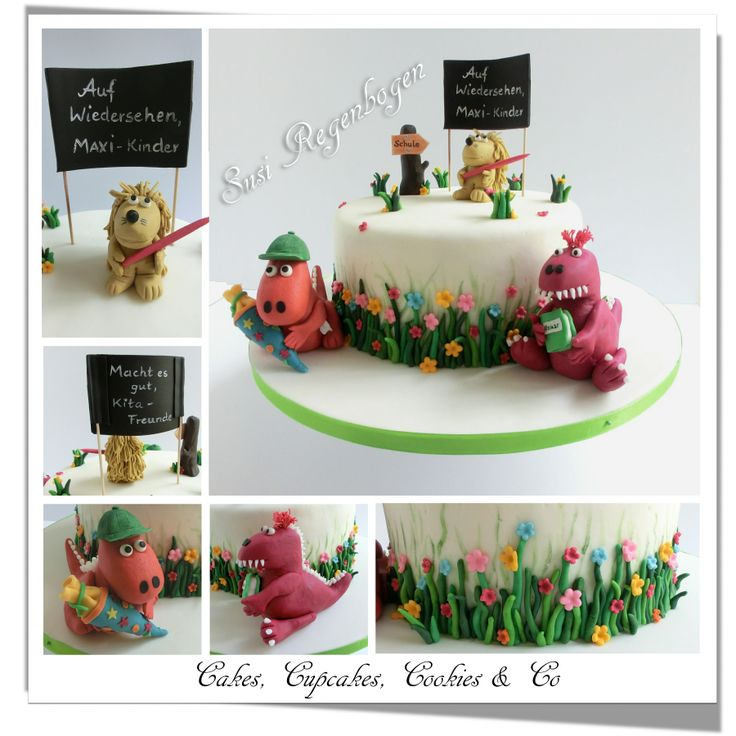 Der kleine Drache Kokosnuss - Torte / little dragon Coconut-Cake