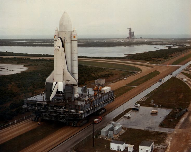 May 1, 1979 – The prototype Space Shuttle Enterprise rolls out to the launch pad Cape Canaveral.