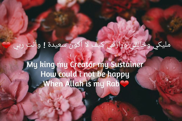 My king my Creator my Sustainer  How could i not be happy  When Allah is my Rabb❤