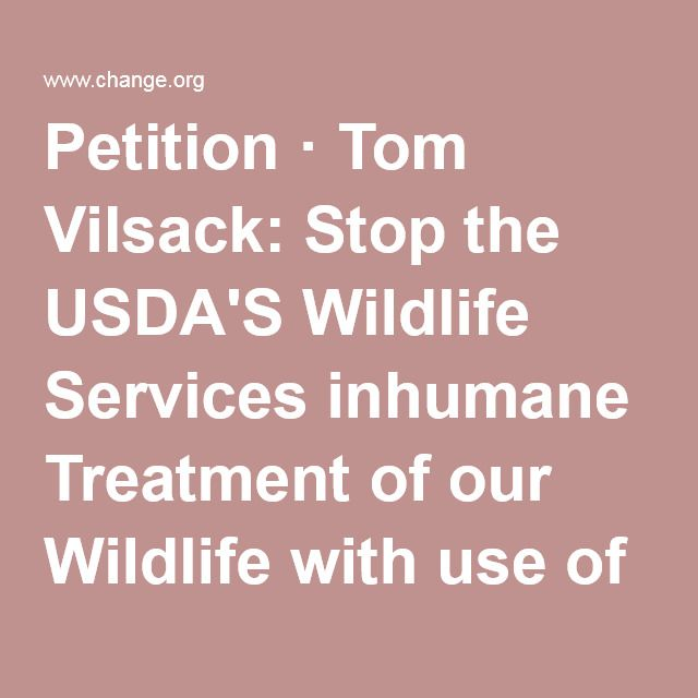 Petition · Tom Vilsack: Stop the USDA'S Wildlife Services inhumane Treatment of our Wildlife with use of Poisons! · Change.org