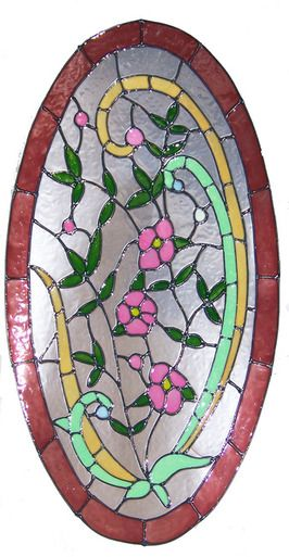 220 best faux stained glass images on pinterest glass for Victorian stained glass window film