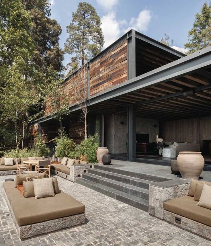 Modern Rustic Mexican Terrace Living Space.