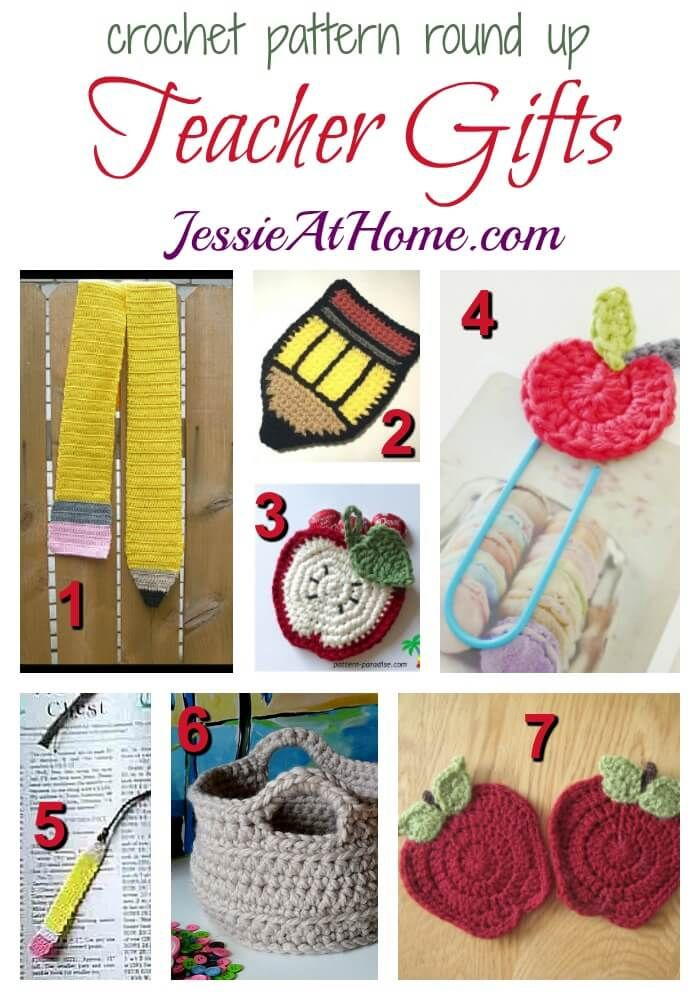 A free crochet pattern round up featuring gifts for your children's new teacher. There's even an apple for you traditionalists! Happy school days!