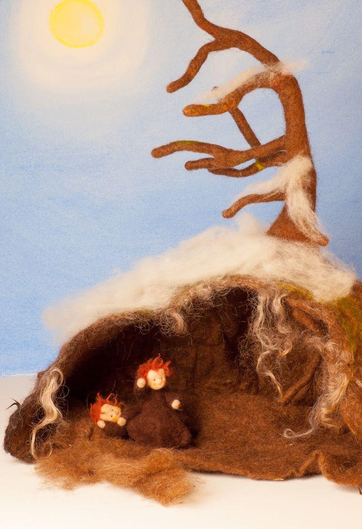 viltwol onder de aarde wortelkindjes huis
