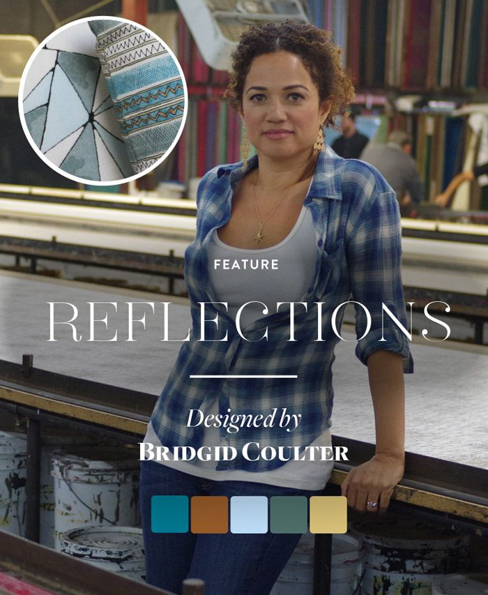 "We are delighted to announce our new signature textile collection ""Reflections"" created exclusively for @guildery."