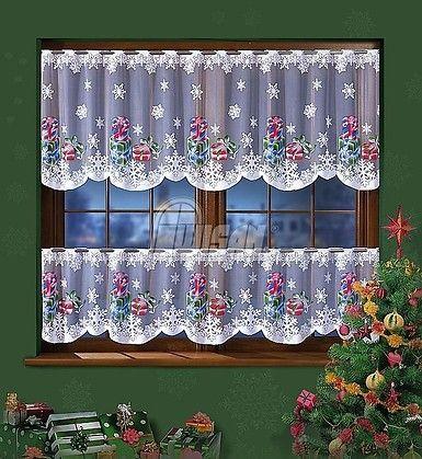 Żakardowa świąteczna #zazdrostka  Ręcznie malowany świąteczny wzór pięknie prezentuje się na białym, żakardowym tle tej zazdrostki. Oferowana tu firanka występuje w dwóch rozmiarach, dzięki czemu możemy dowolnie przyozdobić okno. Zazdrostka w dwóch rozmiarach: 50 cm - 12,50 zł /mb 70 cm -14 zł/mb  Dostępna w sklepie kasandra.com.pl