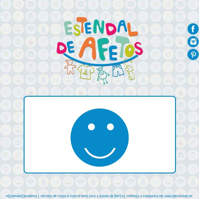 Já imaginou quantas dezenas de sorrisos vamos conseguir com os bens do Estendal de Afetos? :D  #EstendalDeAfetos #AjudaDeBerço #sorriso
