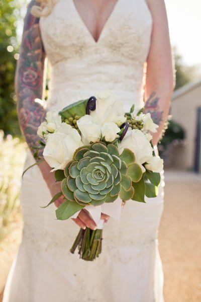 Modern Succulents Wedding Flowers Photos on WeddingWire