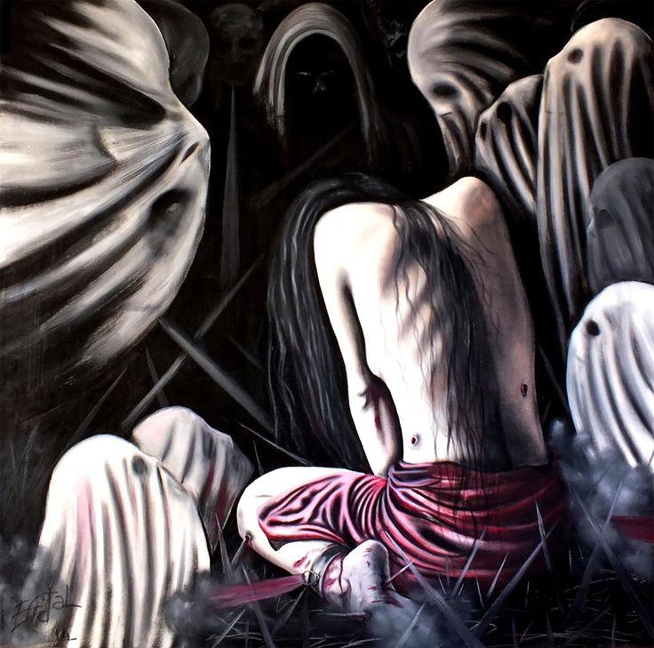 Kadın ve #Şiddet - 6 / Woman and #Violence - 6 Tuval üzerine #Yağlıboya / #Oiloncanvas 120cm x 120cm 8.000₺ / 2.300$  #gallerymak #sanat #ig_sanat #yagliboya #resim #dışavurum #sürreal #erdalarslan #savaş #surreal #surrealism #war #crime #terror #expressionist #masterpiece #artwork #painting #fineart #artgallery #contemporaryart #paintingforsale #contemporaryartcurator #contemporary