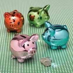 favors - mini piggy banks