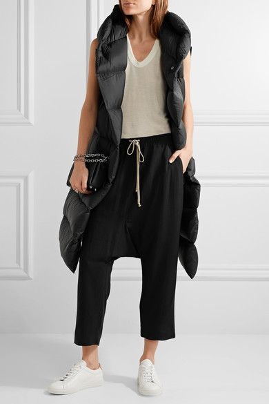 Rick Owens - Quilted Shell Down Vest - Black - IT48