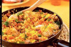 Kijk wat een lekker recept ik heb gevonden op Allerhande! Spaanse rijstschotel met kip en garnalen