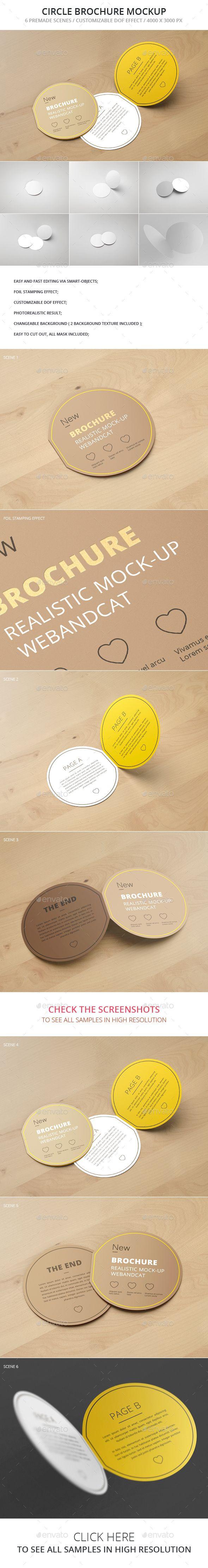 Circle Bi Fold Brochure Mockup