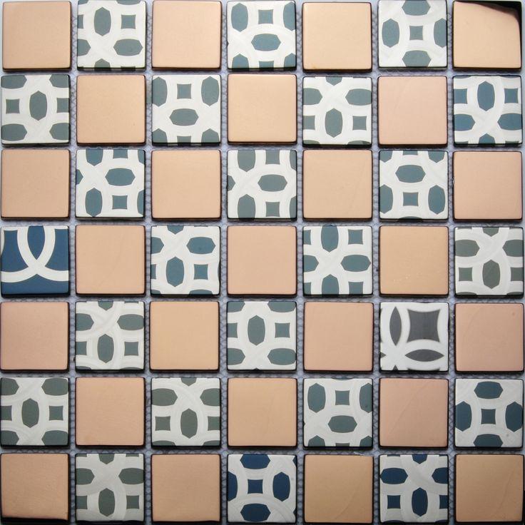 Tst Stainless Steel Tiles Rose Gold Glossy Mosaic Tile Bathroom Wall Decor Http Www