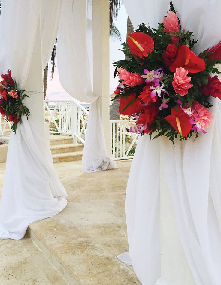 all inclusive beach wedding destinations%0A Fresh floral arrangements are giving a sweet scent to this destination  wedding  Hyatt All Inclusive