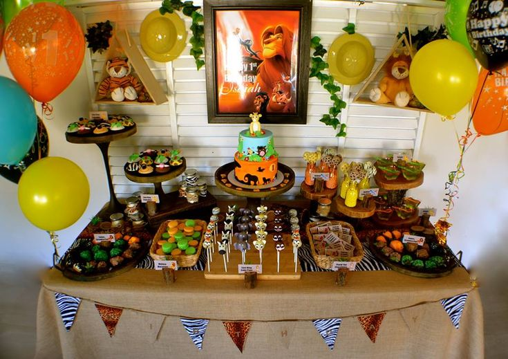 Little Wish Parties Disney Lion King First Birthday