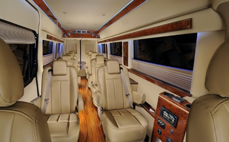 Brilliant offers luxury van and mini bus transportation for Mercedes benz charter bus