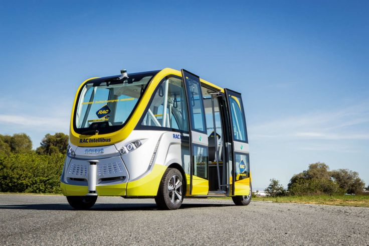 One of the world's first trials of an autonomous, driverless bus is underway in the…