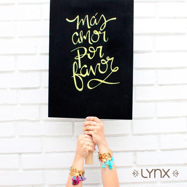 ¡Más amor por favor! ✨❤️⭐️✨❤️ #ILoveLynx #masamor #masamorporfavor #quote #jewels #masamor #masamorporfavor #quote #frase #inspiracion #inspiration #love