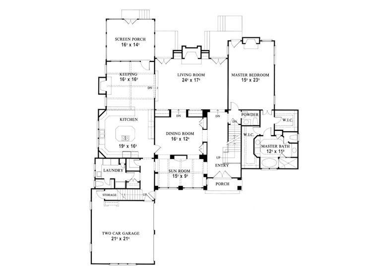 House plan manville court stephen fuller inc for Goan house designs and floor plans
