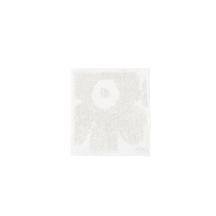 Marimekko - Unikko Solid Mini-Handtuch 25 x 25 cm, weiß Weiß T:25 B:25