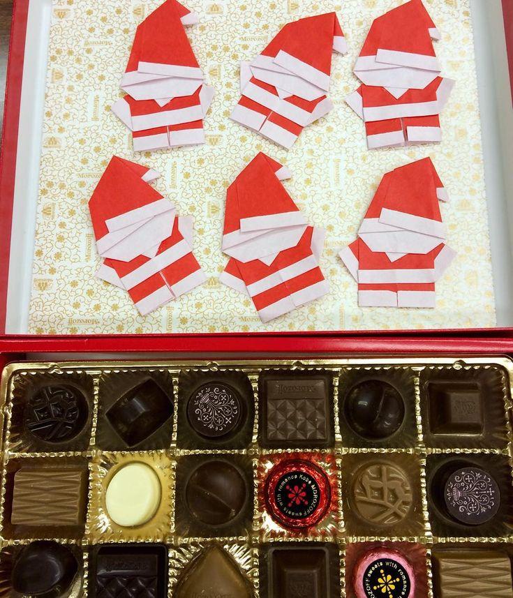 素敵なサンタさんからクリスマスプレゼントいただきました⭐️ ありがとうございます🎄🎄🎄 クリスマス会ではケーキとチキンも食べて恒例のカルタもしました🍰プレゼント交換では何が当たるかドキドキ…🎁 #東亜和裁クリスマス2017 #東亜和裁クリスマスイルミネーション2017#東亜和裁#クリスマス#サンタ#折り紙#toawasai#三重#四日市#折り紙サンタ