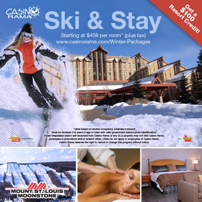 Casino Rama Resort Ski & Stay Package Giveaway! Enter for your chance to win a Ski & Stay Package for a Family of 4. Canada Only.