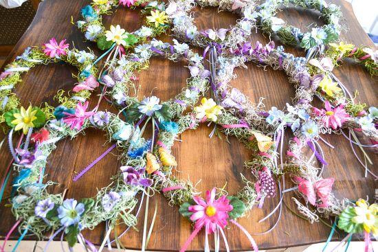 Coronas Woodland Partido Hada Hada bricolaje vía flouronmyface.com
