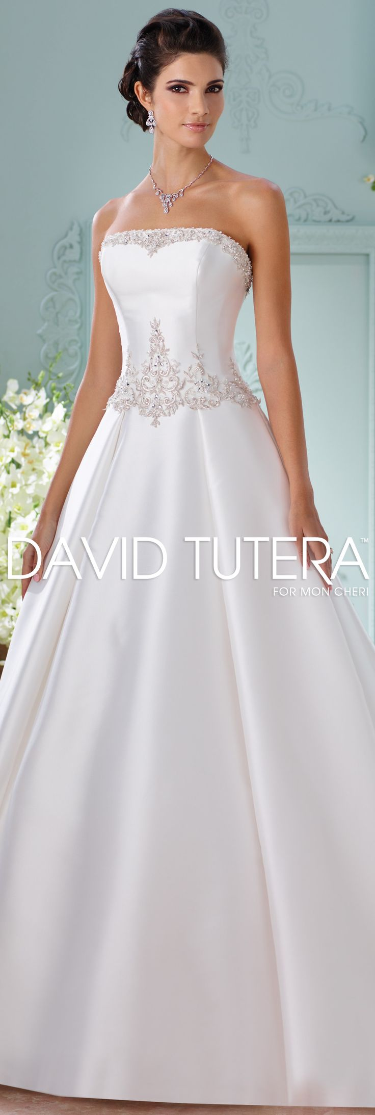 The David Tutera for Mon Cheri Spring 2016 Wedding Gown Collection - Style No. 116223 Selena #silkweddingdresses