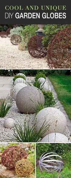 Cool and Unique DIY Garden Globes • Lots of great ideas & tutorials! #gardendecor #gardens