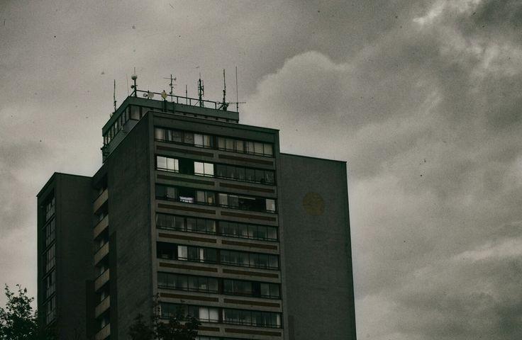 #postapocalyptic #sky #pce #pardubice #building #flat #prefab #city #clouds #nikon #nikond3200 #nikcollection #photoshop #vsco #vscocam