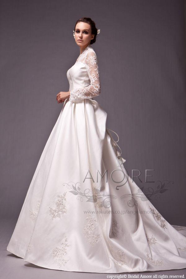 【楽天市場】ウェディングドレス_ウエディングドレス_Aライン_プリンセス(w1513)二次会ドレス:ブライダルアモーレ