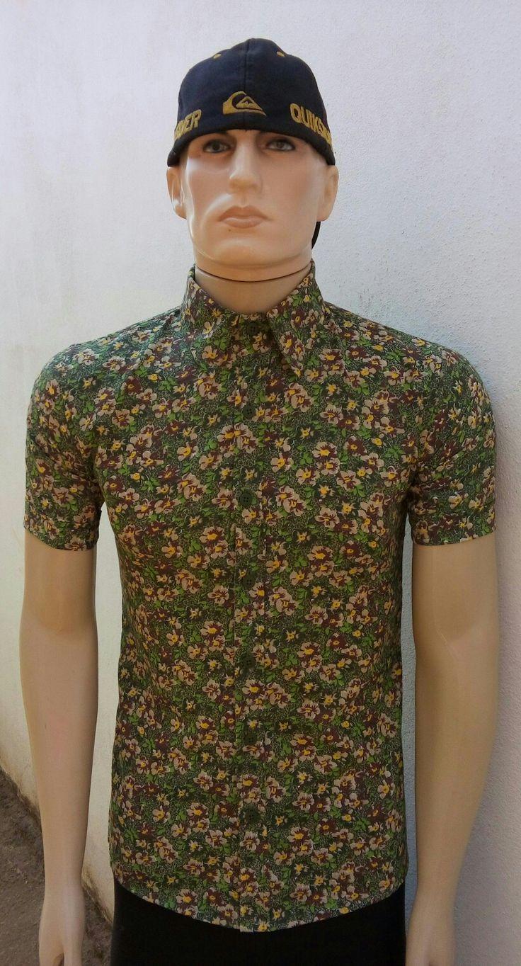 Camisa Masculina Floral Verde Alfaiatelie