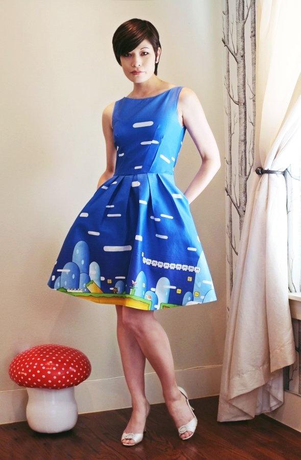 Super Mario Geek dress http://catchtammy.tumblr.com/