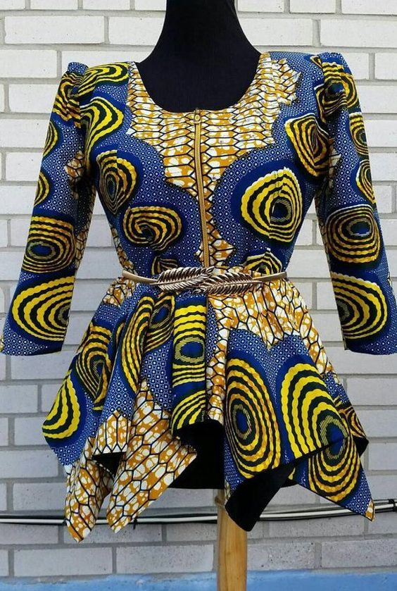 Beautiful Ankara Peplum Top Designs Perfect for Fashionable from Weekend | Maboplus