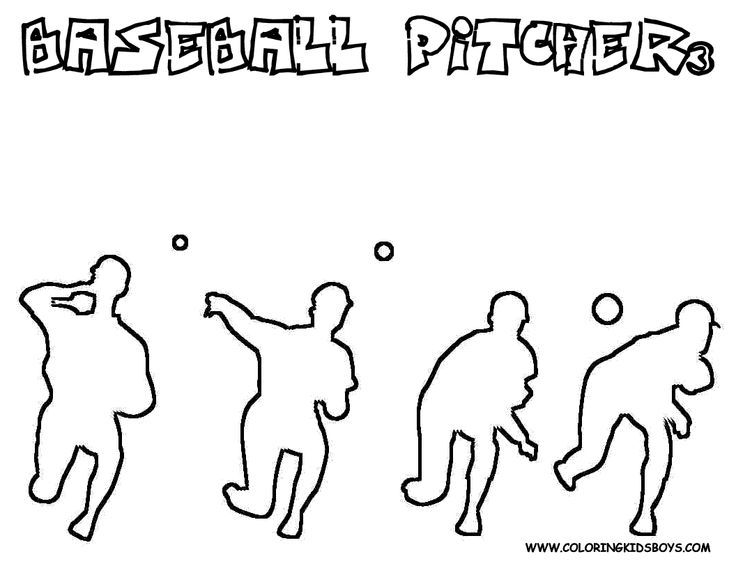 this is coloring page of baseball pitchers motion you can get coloring sheets of baseball