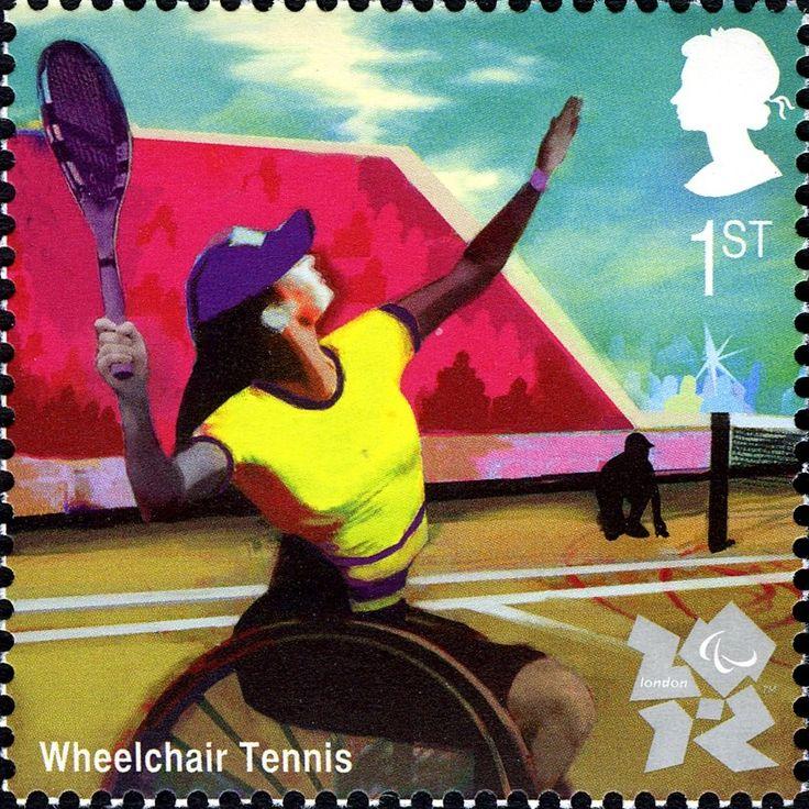 Stamp: Wheelchair Tennis (United Kingdom of Great Britain & Northern…