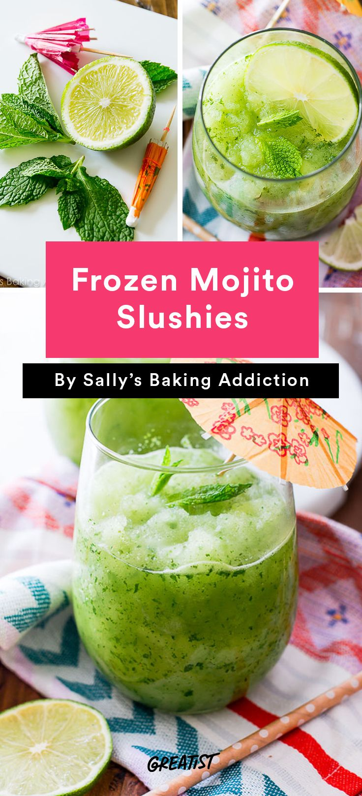 2. Frozen Mojito Slushies #cocktail #recipes http://greatist.com/eat/summer-cocktails-that-are-not-crazy-unhealthy