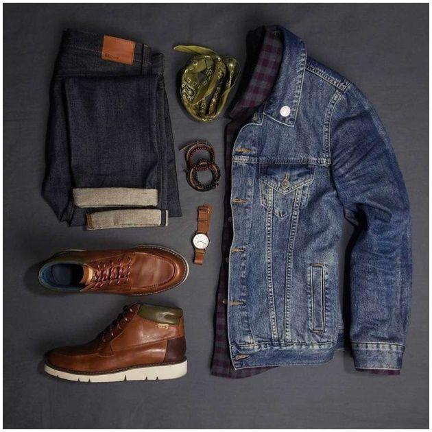 Moda hombre otoño / invierno Streetwear, Denim Jacket Men, Denim Jackets, Men Style Tips, Fashion Essentials, Fitness Fashion, Autumn Fashion, Men Casual, Smart Casual