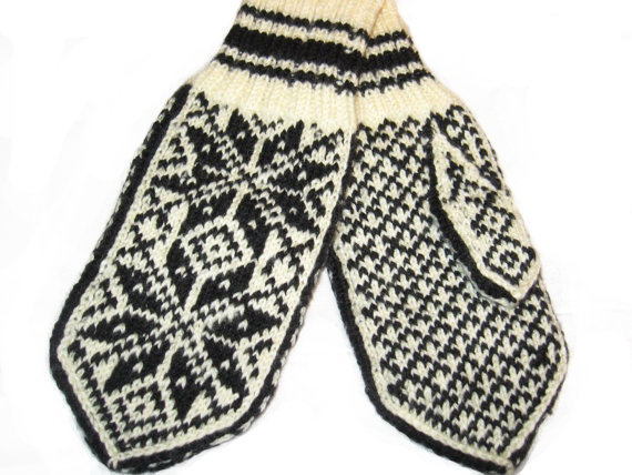 Norwegian Selbu Mittens   hand knitted from by annawoolmagic, $39.99