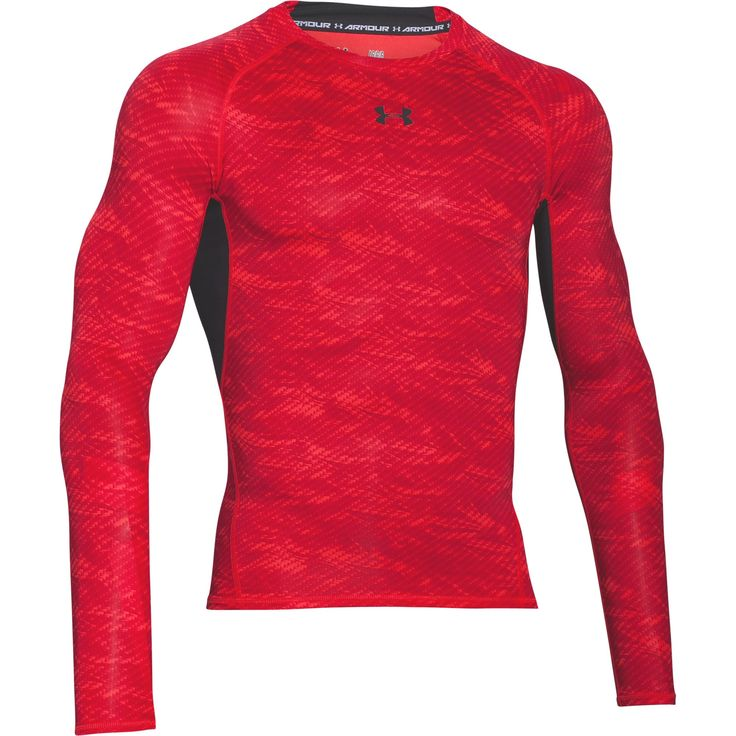 The Under Armour HeatGear Armour Printed Mens Long Sleeve Compression Base Layer Shirt is a graphic update on a classic long sleeve baselayer with the same standout technology with aprinted detail so your ceompetitiors tan double take when you are working out. The compression fit delivers a locked-in feel to improve your circulation for a boost in performance. The soft HeatGear fabric wicks sweat to keep you cooler, lighter, and drier while the Moisture Transport System wicks sweat