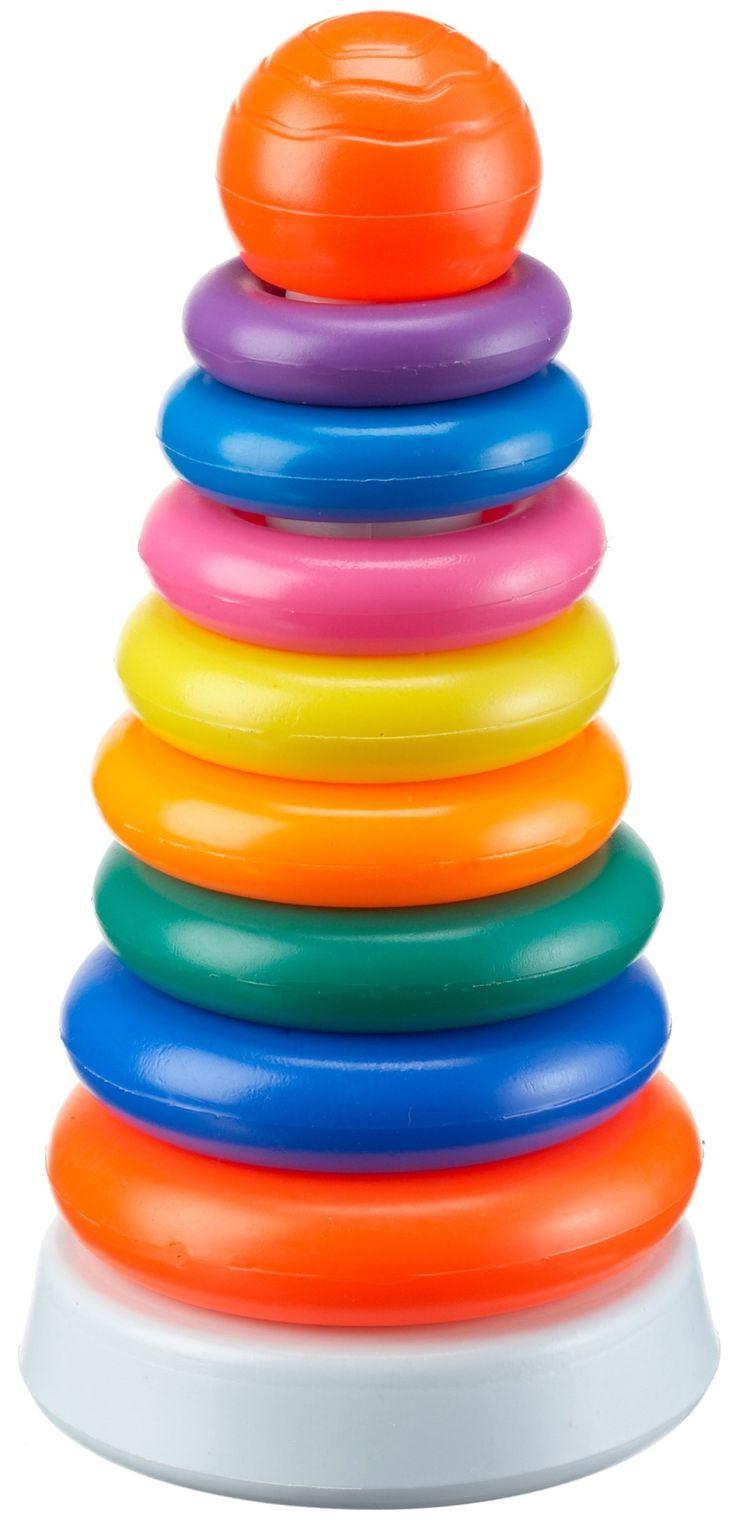 The Toy Company 15650 - Torre de plástico con anillos apilables de colores: Amazon.es: Juguetes y juegos