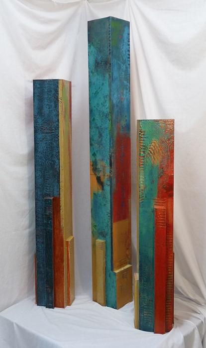 Tempo 1,2,3 Pylons  by Karen Jacobs