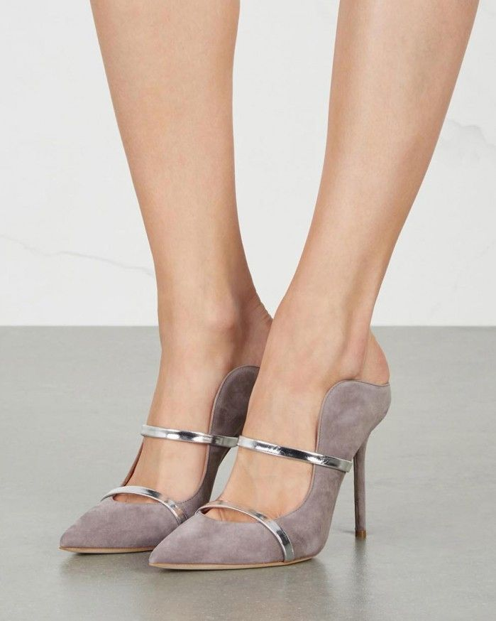 MALONE SOULIERS Maureen grey suede mules | Buy ➜ https://shoespost.com/malone-souliers-maureen-grey-suede-mules/