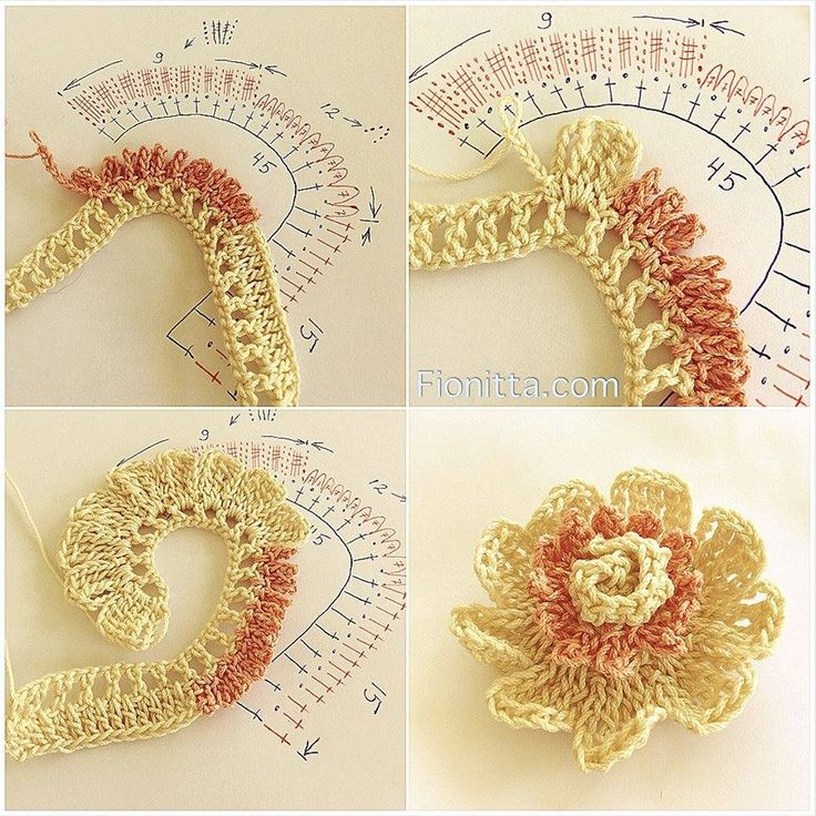 Crochet flower. Love this it's so delicate!